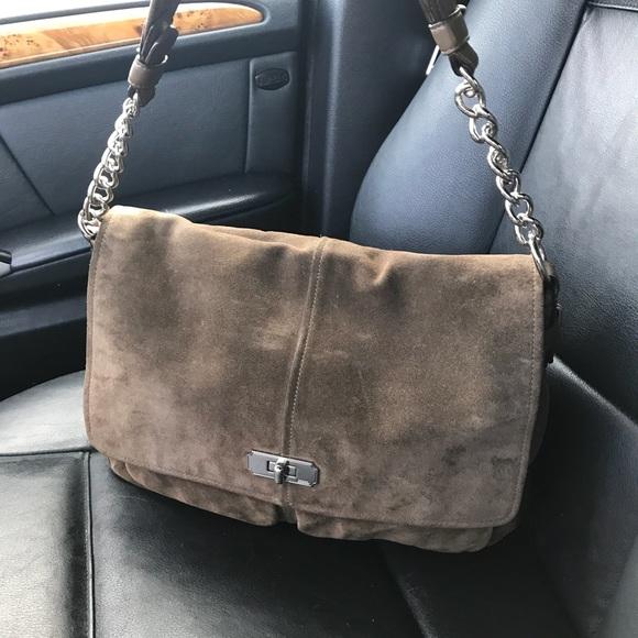 Coach Handbags - Coach brown suede handbag